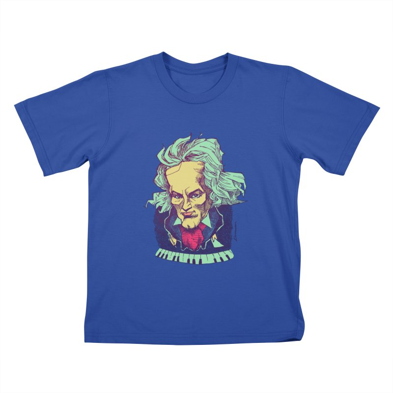Ludwig Van B Kids T-shirt by Donovan Alex's Artist Shop