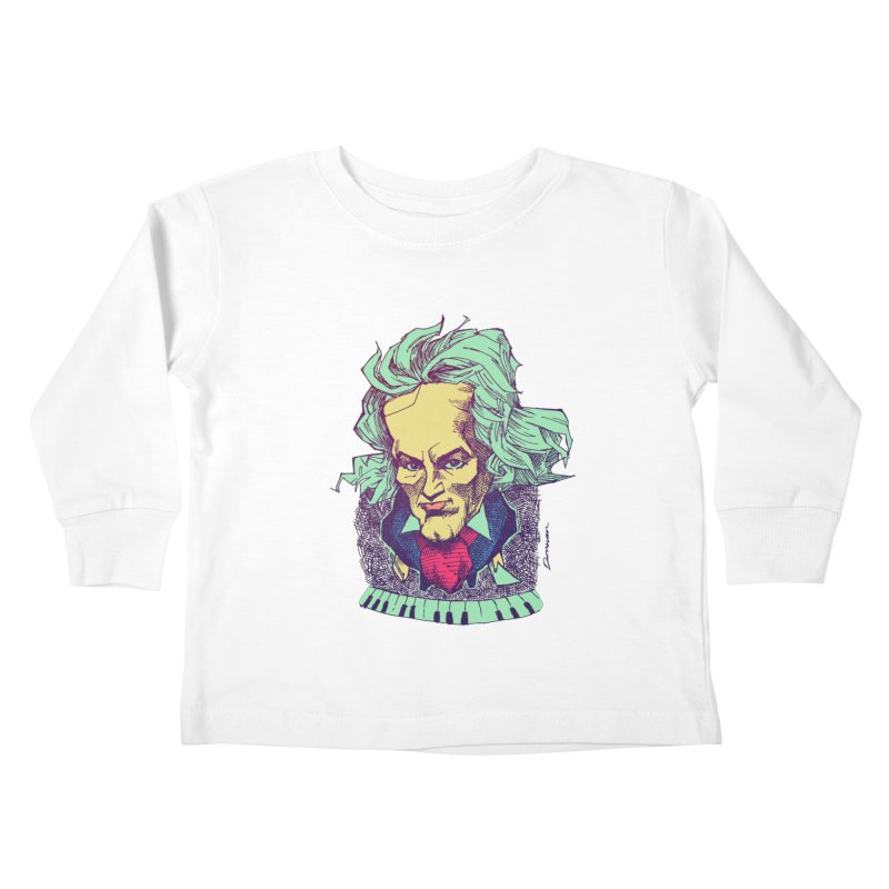Ludwig Van B Kids Toddler Longsleeve T-Shirt by Donovan Alex's Artist Shop