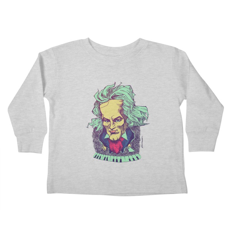Ludwig Van B Kids Toddler Longsleeve T-Shirt by Donovan Alex's Artist Shop