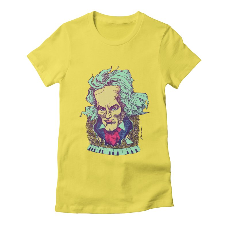 Ludwig Van B Women's Fitted T-Shirt by Donovan Alex's Artist Shop