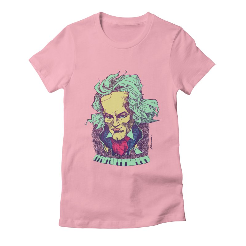 Ludwig Van B Women's Fitted T-Shirt by Donovan Alex's Artist Shop