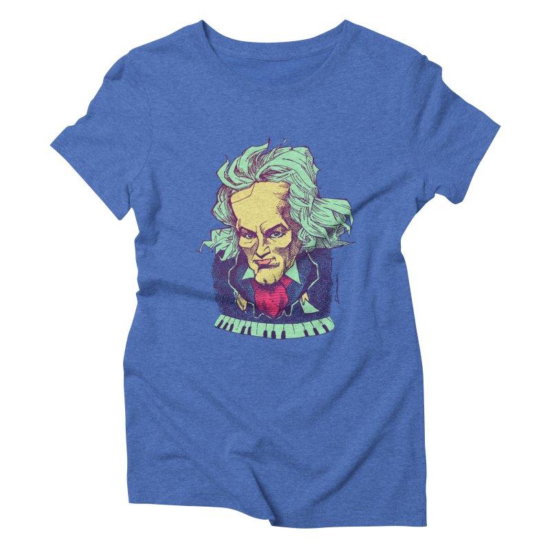 Ludwig Van B Women's Triblend T-Shirt by Donovan Alex's Artist Shop