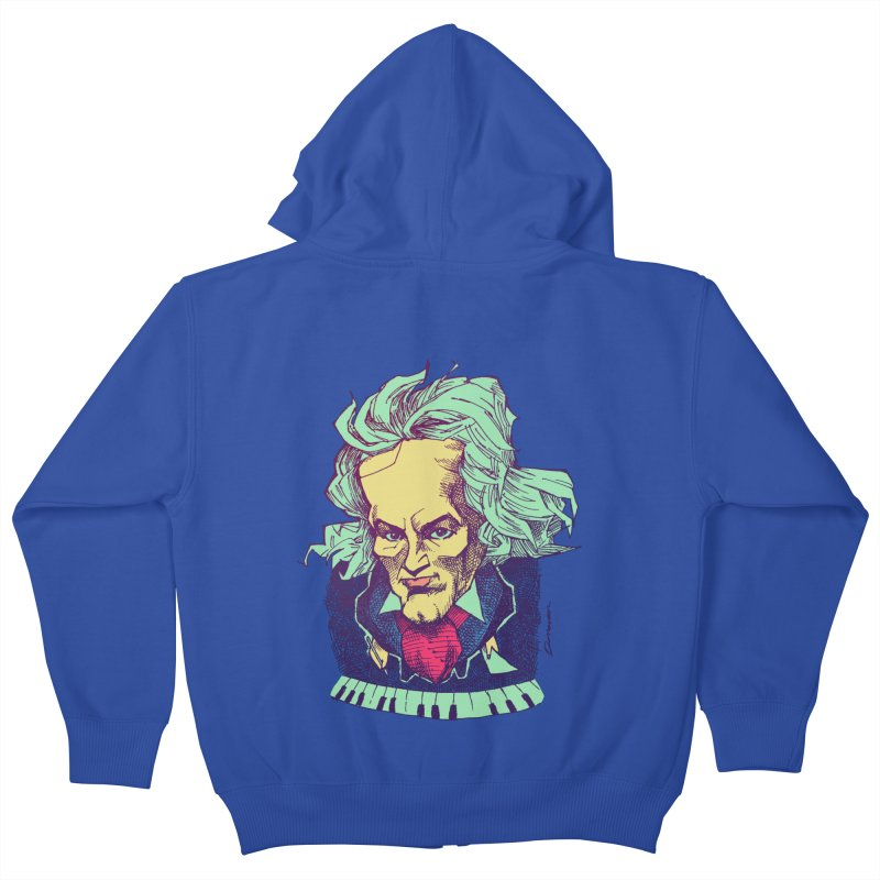 Ludwig Van B Kids Zip-Up Hoody by Donovan Alex's Artist Shop