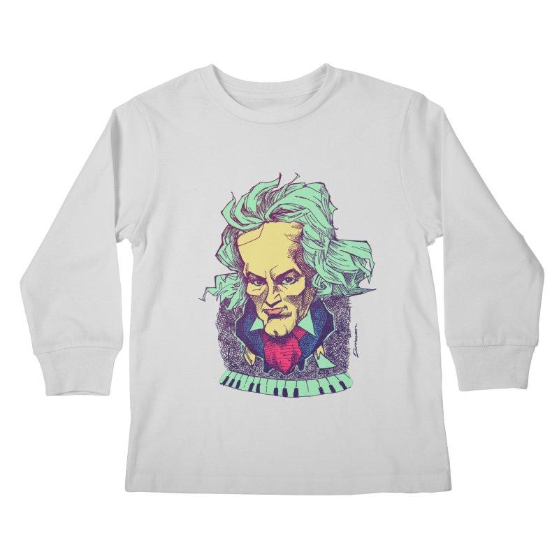 Ludwig Van B Kids Longsleeve T-Shirt by Donovan Alex's Artist Shop