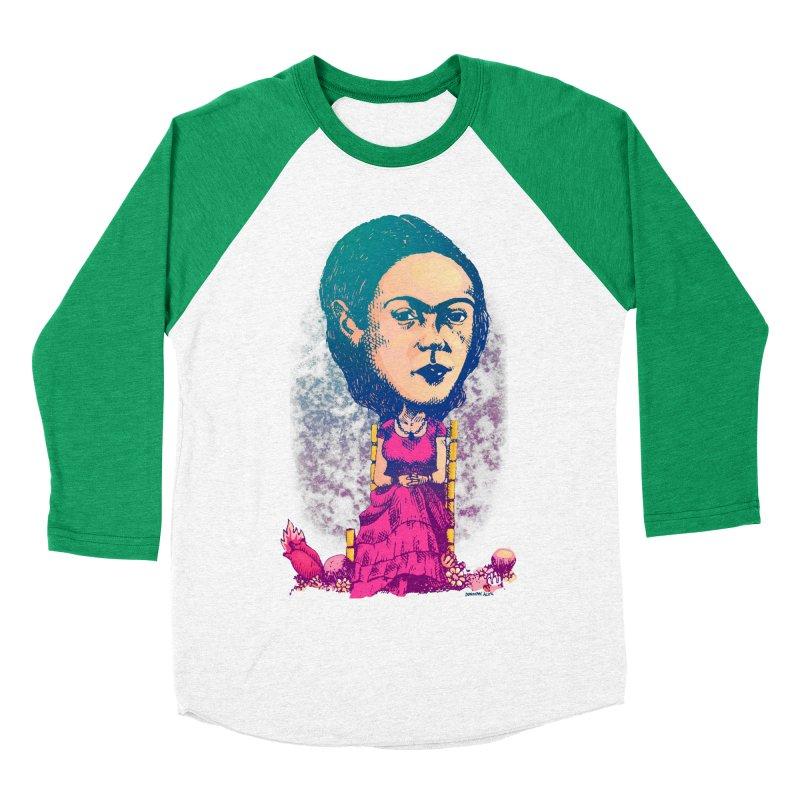 Frida Men's Baseball Triblend T-Shirt by Donovan Alex's Artist Shop