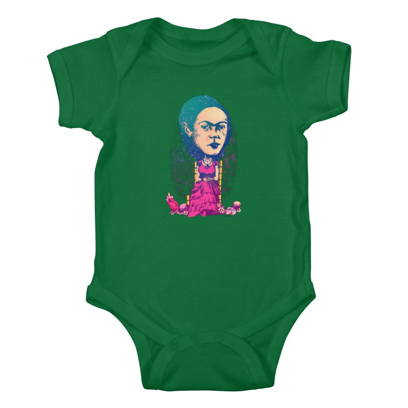 Frida Kids Baby Bodysuit by Donovan Alex's Artist Shop