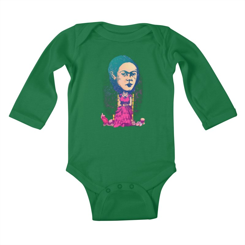 Frida Kids Baby Longsleeve Bodysuit by Donovan Alex's Artist Shop