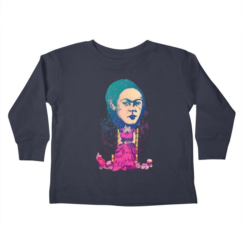 Frida Kids Toddler Longsleeve T-Shirt by Donovan Alex's Artist Shop