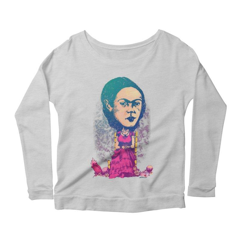Frida Women's Longsleeve Scoopneck  by Donovan Alex's Artist Shop