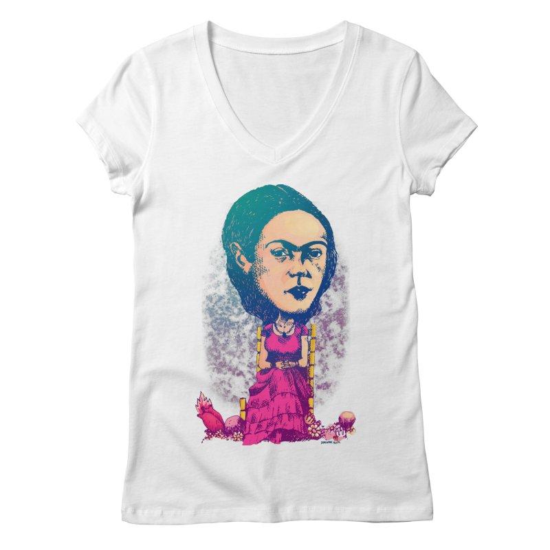 Frida Women's V-Neck by Donovan Alex's Artist Shop
