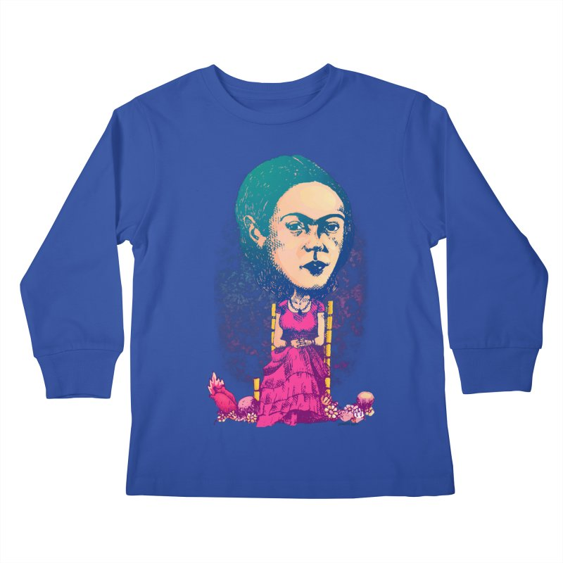 Frida Kids Longsleeve T-Shirt by Donovan Alex's Artist Shop