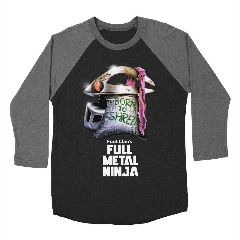 Full Metal Ninja Men's Baseball Triblend T-Shirt by Donovan Alex's Artist Shop