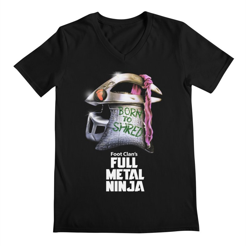 Full Metal Ninja Men's V-Neck by Donovan Alex's Artist Shop