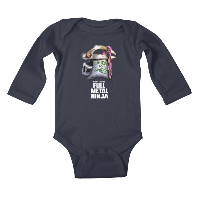Full Metal Ninja Kids Baby Longsleeve Bodysuit by Donovan Alex's Artist Shop