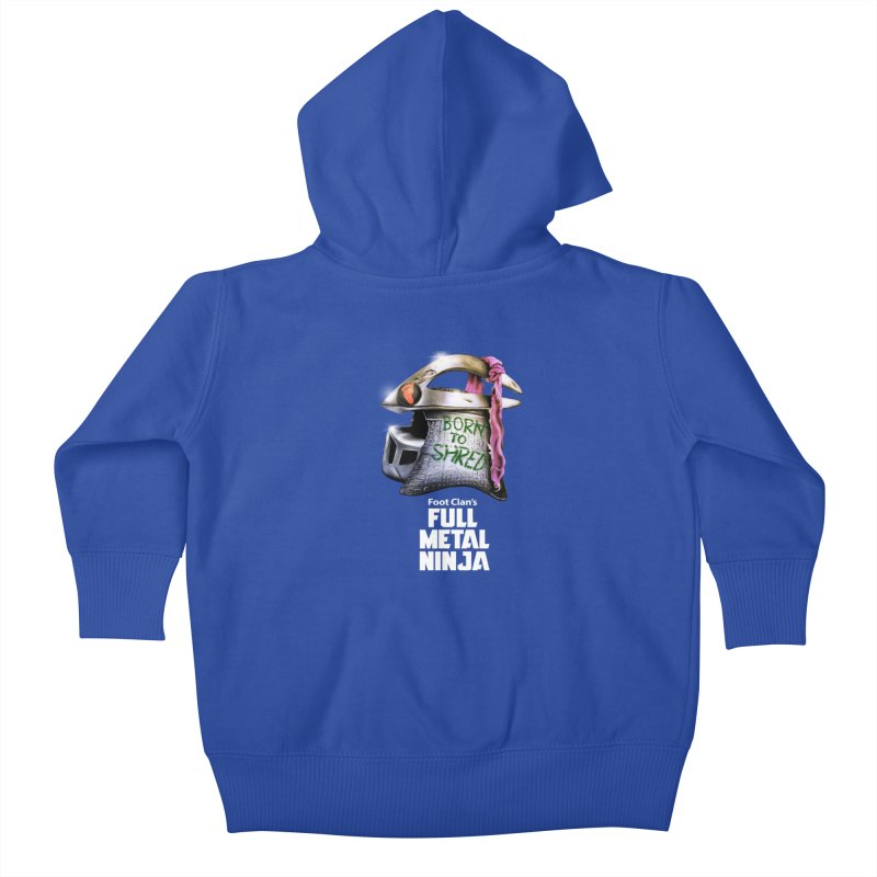 Full Metal Ninja Kids Baby Zip-Up Hoody by Donovan Alex's Artist Shop