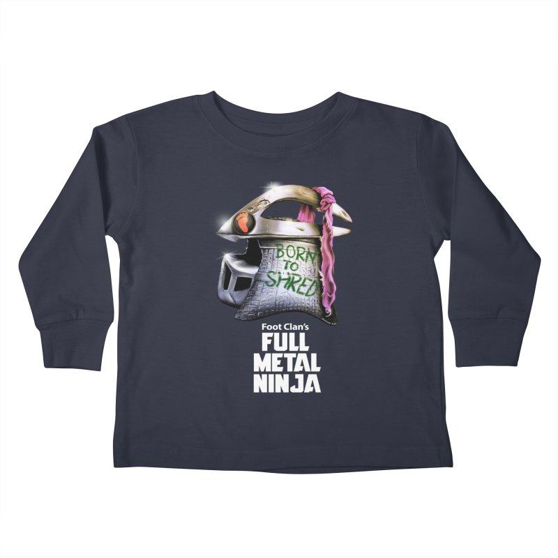 Full Metal Ninja Kids Toddler Longsleeve T-Shirt by Donovan Alex's Artist Shop