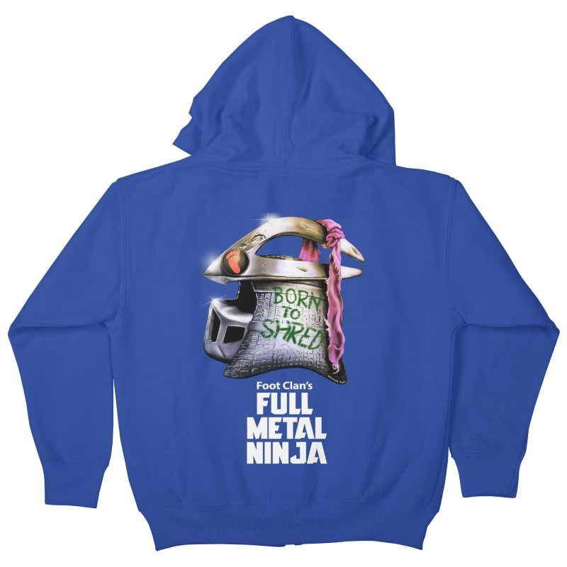 Full Metal Ninja Kids Zip-Up Hoody by Donovan Alex's Artist Shop