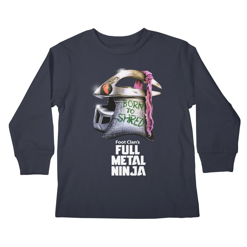 Full Metal Ninja Kids Longsleeve T-Shirt by Donovan Alex's Artist Shop