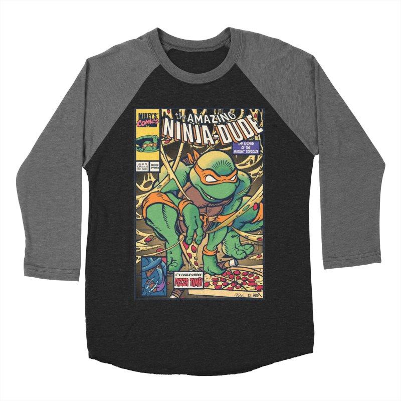 Amazing Ninja Dude Men's Baseball Triblend T-Shirt by Donovan Alex's Artist Shop