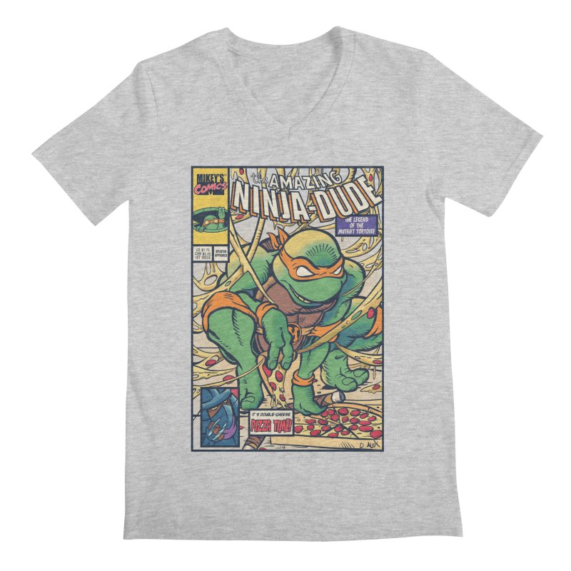 Amazing Ninja Dude Men's V-Neck by Donovan Alex's Artist Shop