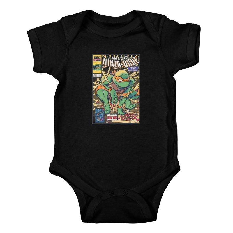 Amazing Ninja Dude Kids Baby Bodysuit by Donovan Alex's Artist Shop