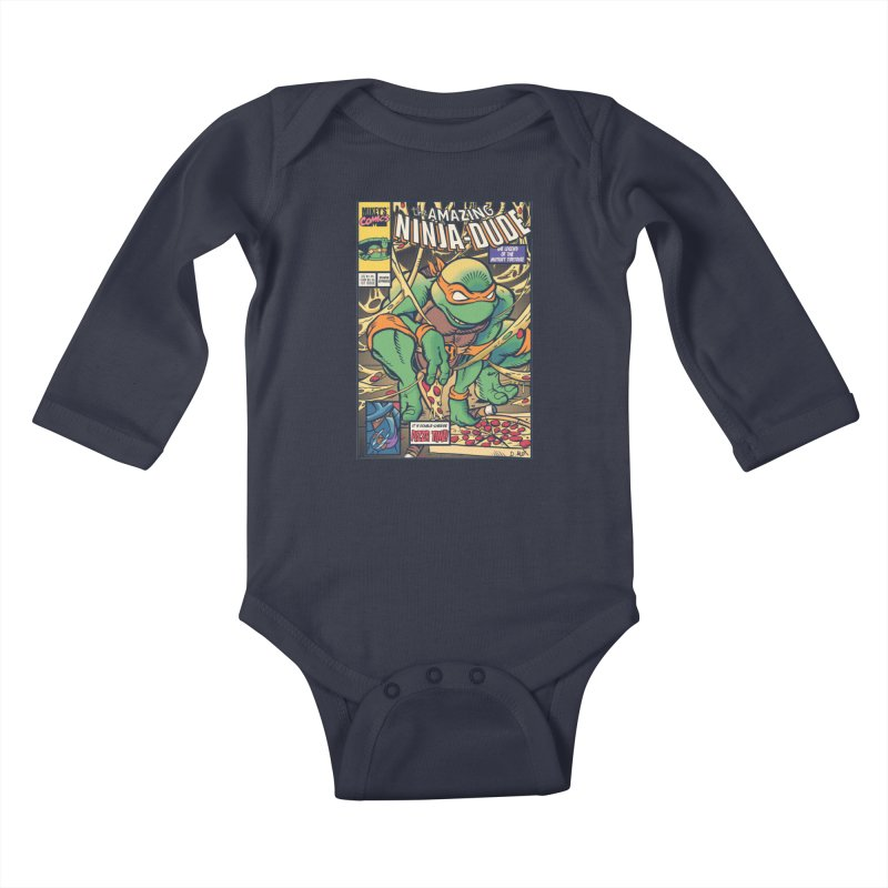 Amazing Ninja Dude Kids Baby Longsleeve Bodysuit by Donovan Alex's Artist Shop