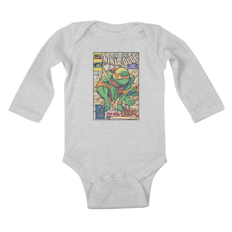 Amazing Ninja Dude Kids Baby Longsleeve Bodysuit by Donovan Alex's Artist Shop