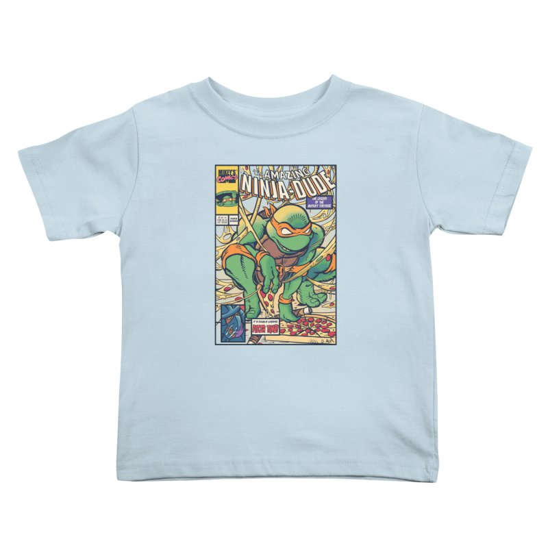 Amazing Ninja Dude Kids Toddler T-Shirt by Donovan Alex's Artist Shop