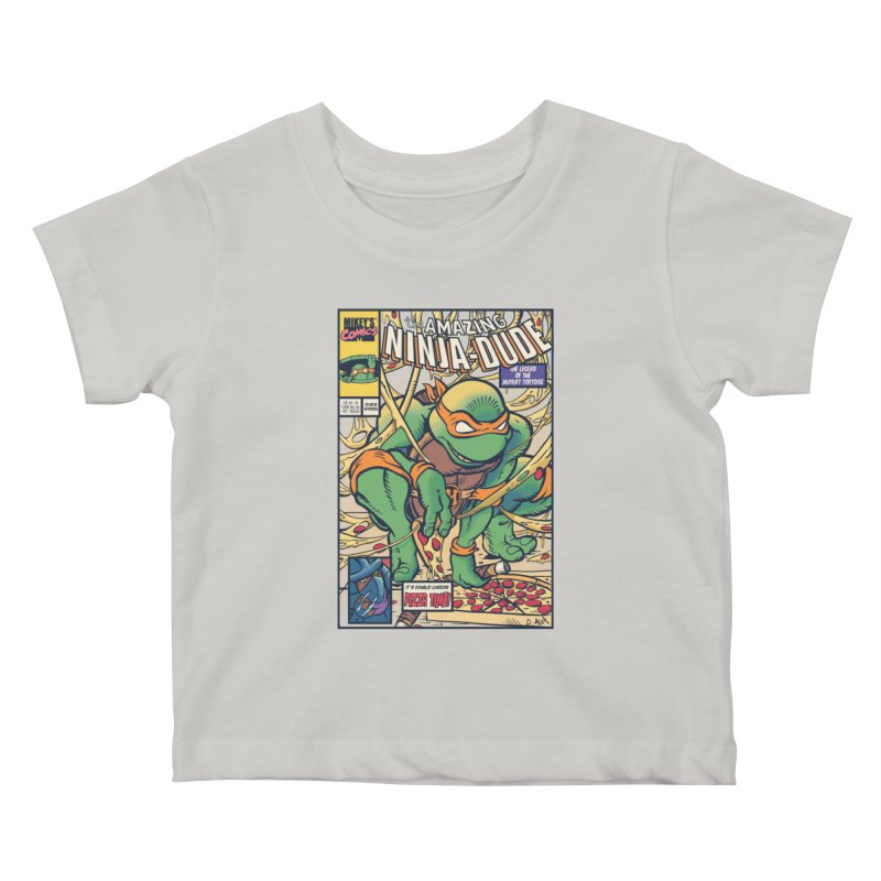 Amazing Ninja Dude Kids Baby T-Shirt by Donovan Alex's Artist Shop
