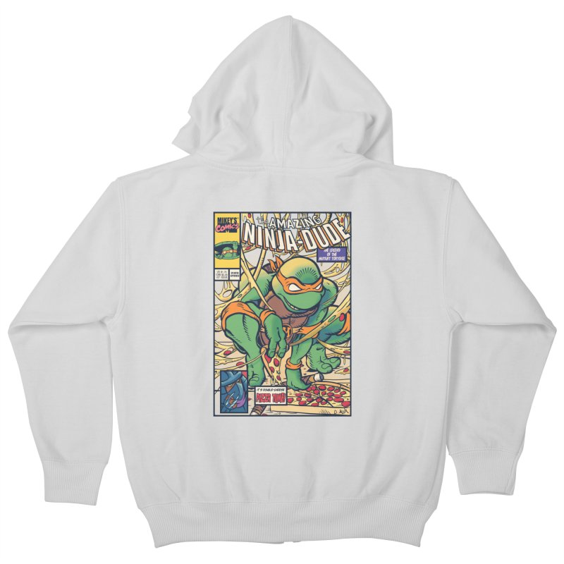 Amazing Ninja Dude Kids Zip-Up Hoody by Donovan Alex's Artist Shop