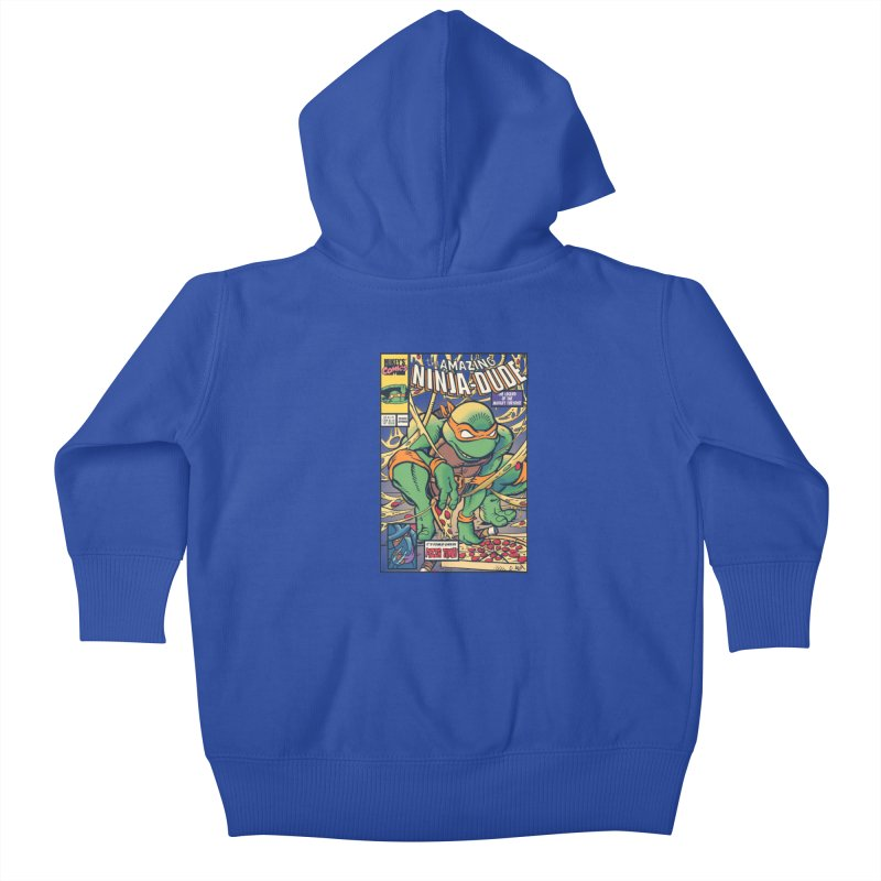 Amazing Ninja Dude Kids Baby Zip-Up Hoody by Donovan Alex's Artist Shop
