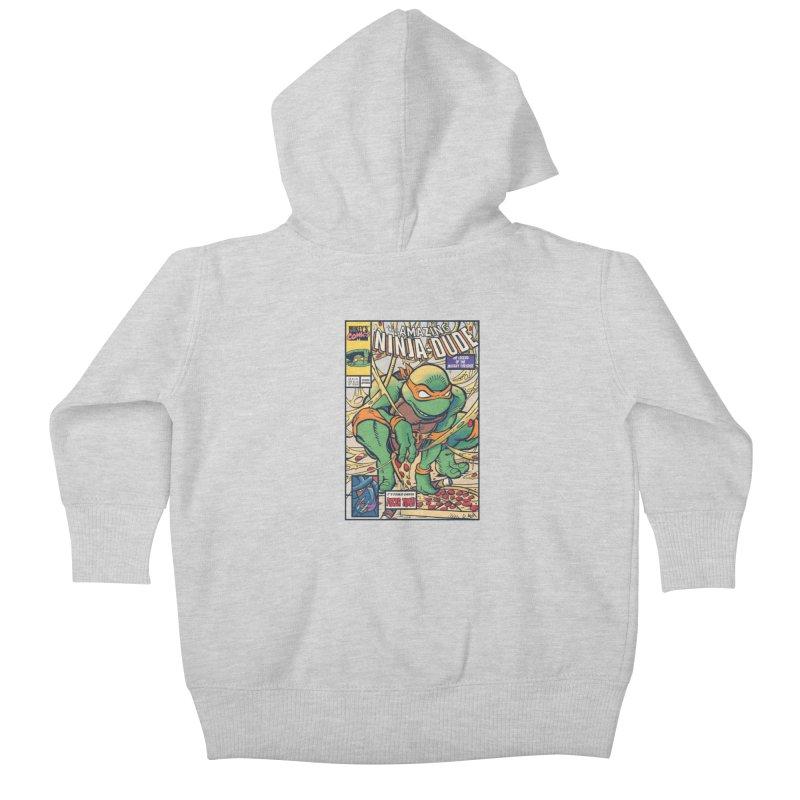 Amazing Ninja Dude Kids Baby Zip-Up Hoody by Donovan Alex's Artist Shop