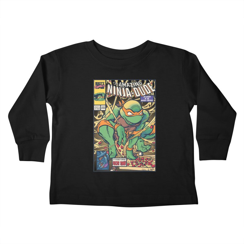 Amazing Ninja Dude Kids Toddler Longsleeve T-Shirt by Donovan Alex's Artist Shop