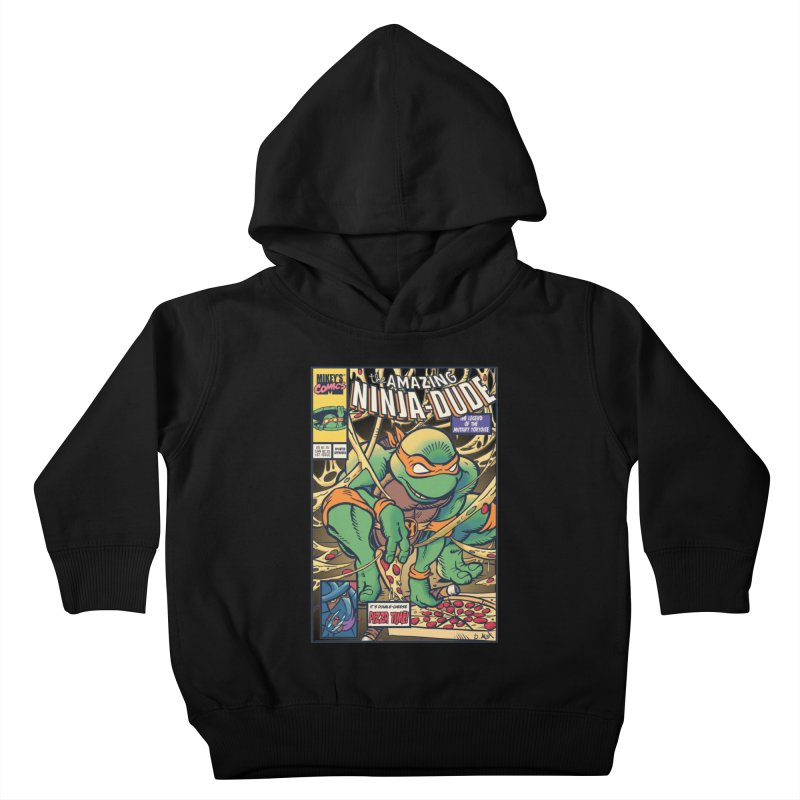 Amazing Ninja Dude Kids Toddler Pullover Hoody by Donovan Alex's Artist Shop