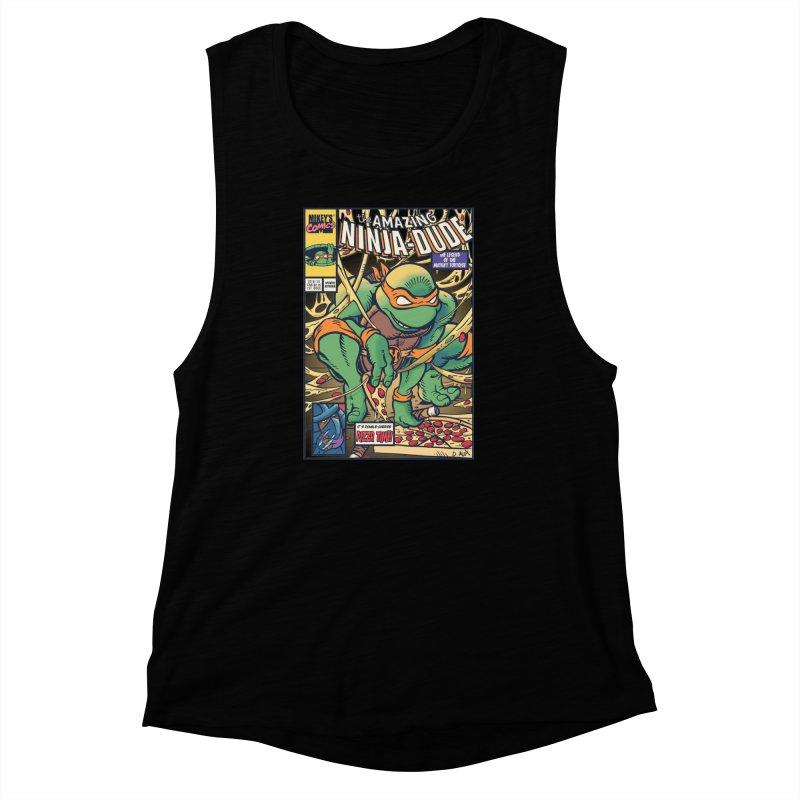 Amazing Ninja Dude Women's Muscle Tank by Donovan Alex's Artist Shop