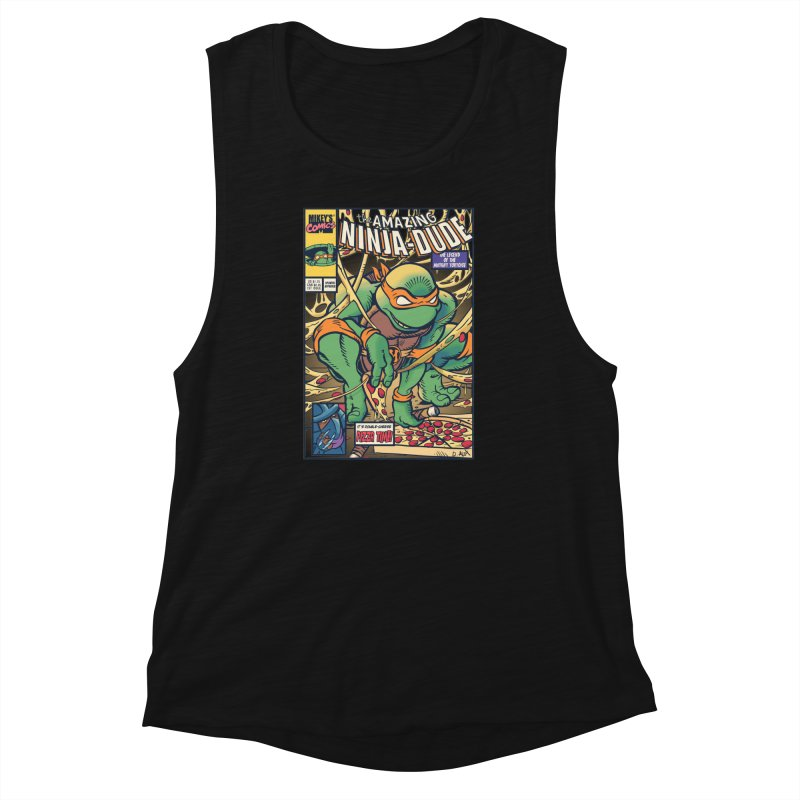 Amazing Ninja Dude Women's Muscle Tank by Donovan Alex's Artist Shop