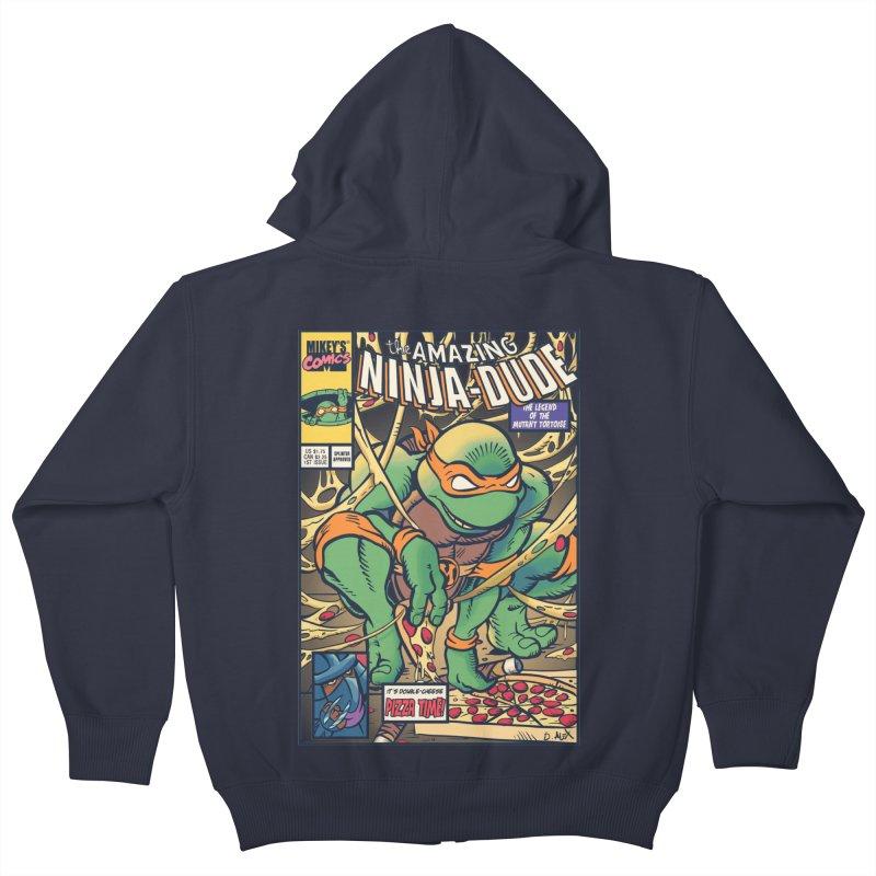 Amazing Ninja Dude Kids Zip-Up Hoody by Donovan Alex's Artist Shop