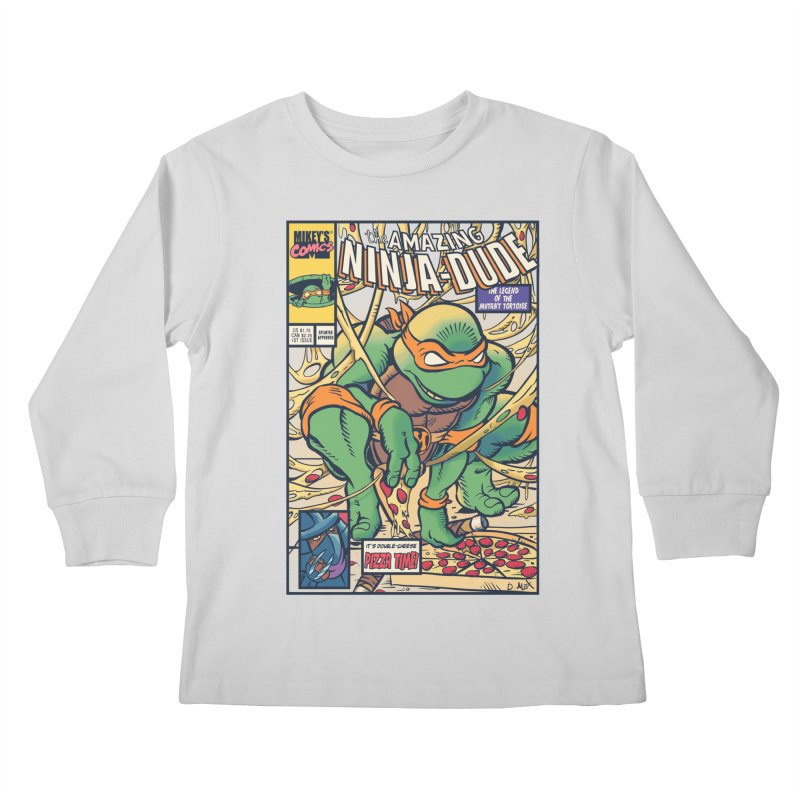Amazing Ninja Dude Kids Longsleeve T-Shirt by Donovan Alex's Artist Shop