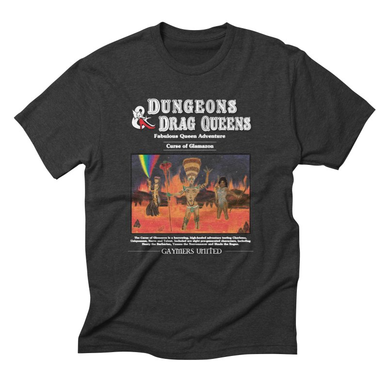 Dungeons & Drag Queens II in Men's Triblend T-Shirt Heather Onyx by Geometric Evolution