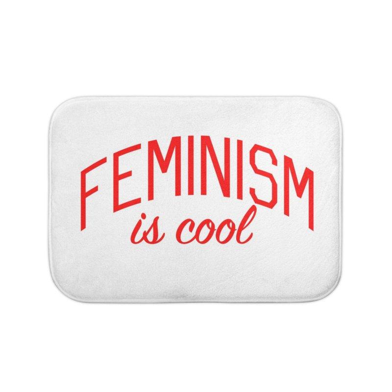 Feminism is Cool Home Bath Mat by Bicks' Artist Shop