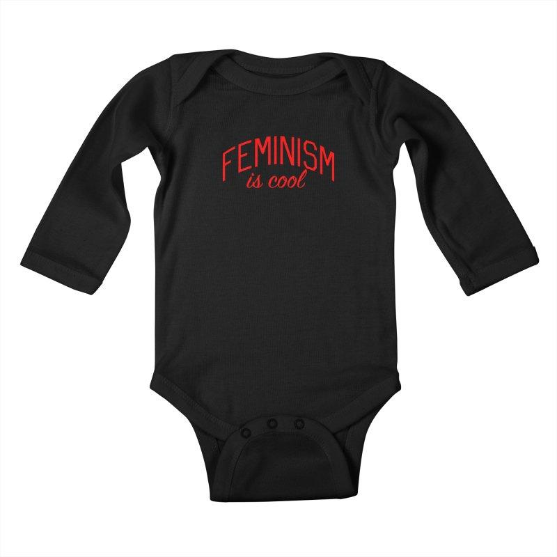 Feminism is Cool Kids Baby Longsleeve Bodysuit by Bicks' Artist Shop
