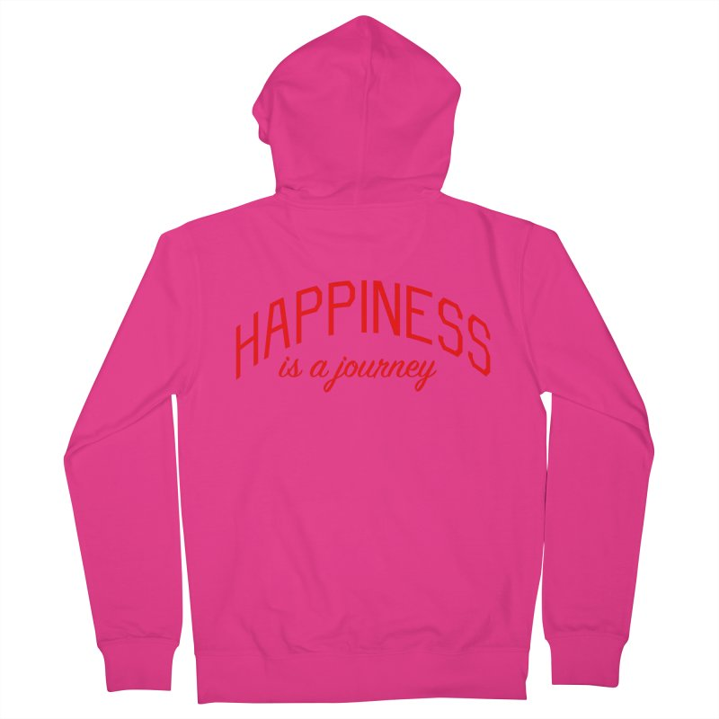 Happiness is a Journey - Positivity Quote Men's French Terry Zip-Up Hoody by Bicks' Artist Shop