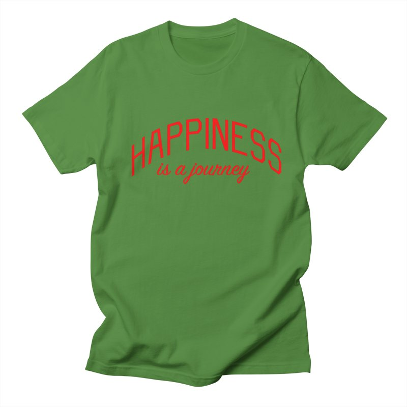 Happiness is a Journey - Positivity Quote Men's Regular T-Shirt by Bicks' Artist Shop