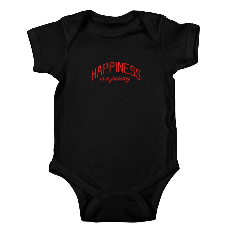 Happiness is a Journey - Positivity Quote Kids Baby Bodysuit by Bicks' Artist Shop