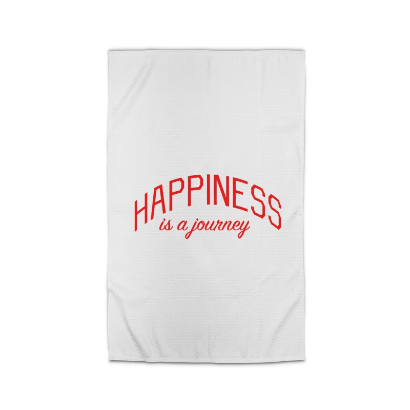 Happiness is a Journey - Positivity Quote Home Rug by Bicks' Artist Shop