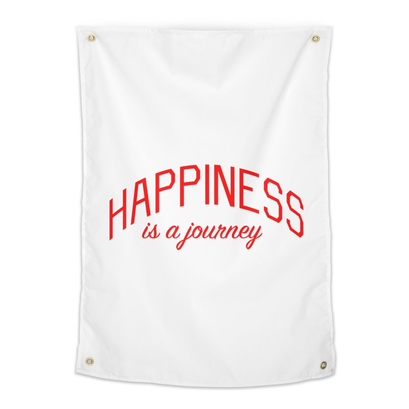 Happiness is a Journey - Positivity Quote Home Tapestry by Bicks' Artist Shop