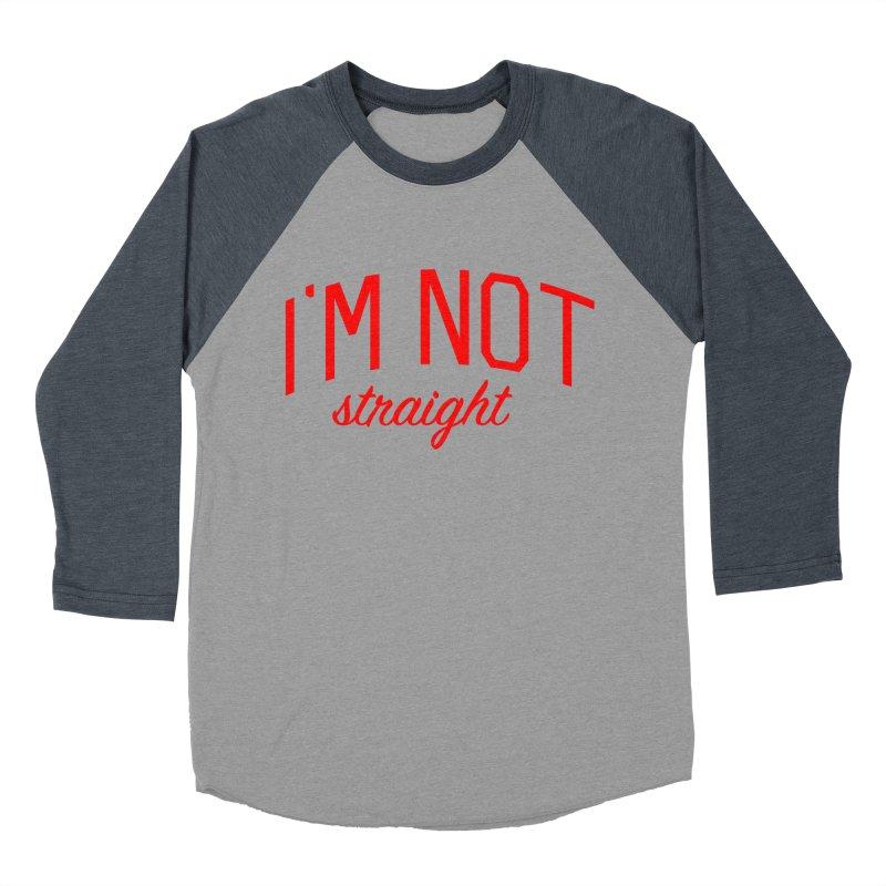 I'm Not Straight-  Pride Message Men's Baseball Triblend Longsleeve T-Shirt by Bicks' Artist Shop