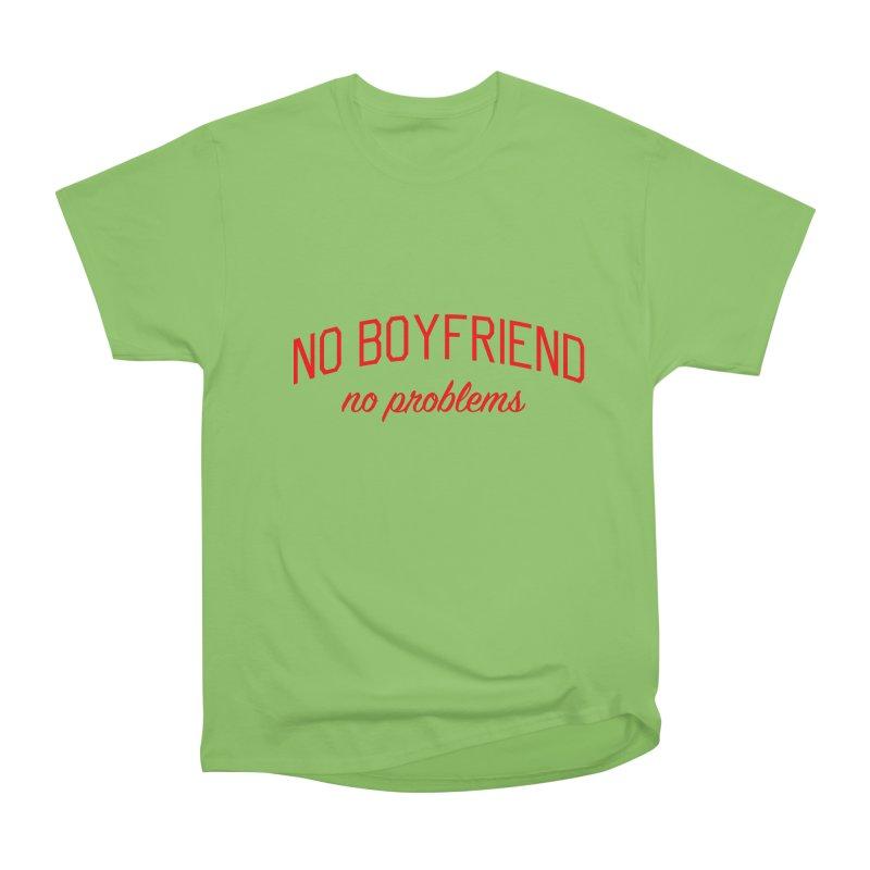 No Boyfriend No Problems - Single on Valentine's Day Men's Heavyweight T-Shirt by Bicks' Artist Shop