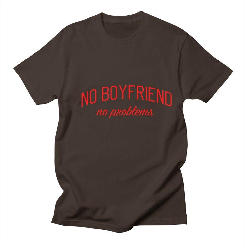 No Boyfriend No Problems - Single on Valentine's Day Men's Regular T-Shirt by Bicks' Artist Shop