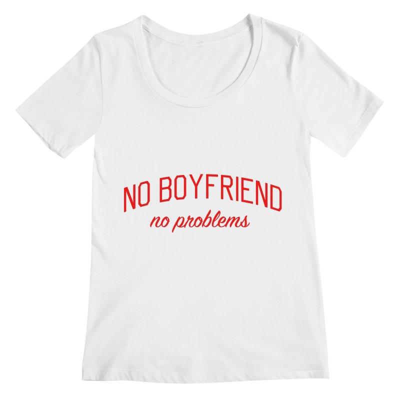 No Boyfriend No Problems - Single on Valentine's Day Women's Regular Scoop Neck by Bicks' Artist Shop